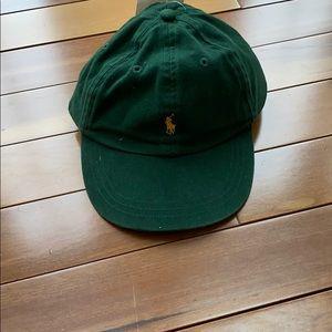 Hunter green Polo by Ralph Lauren baseball cap.